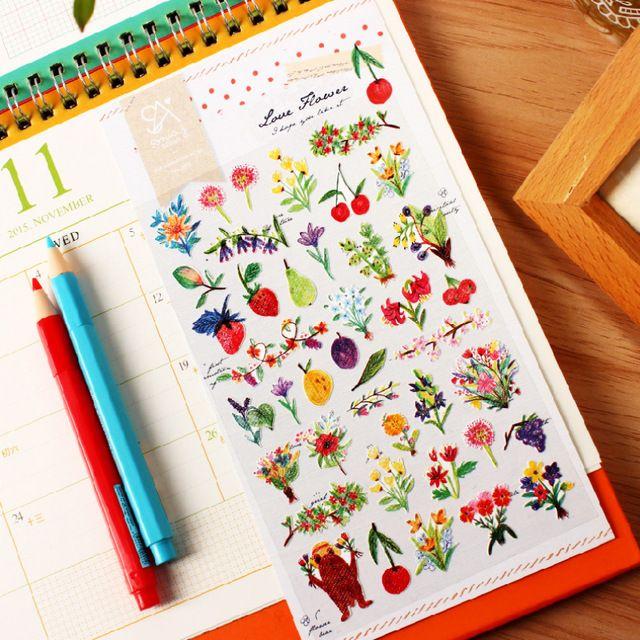Krean Стиль Соня Любовь Цветы Бумага Стикер Diy Студенты Дневник Наклейки Школьные Принадлежности Книги Украшения