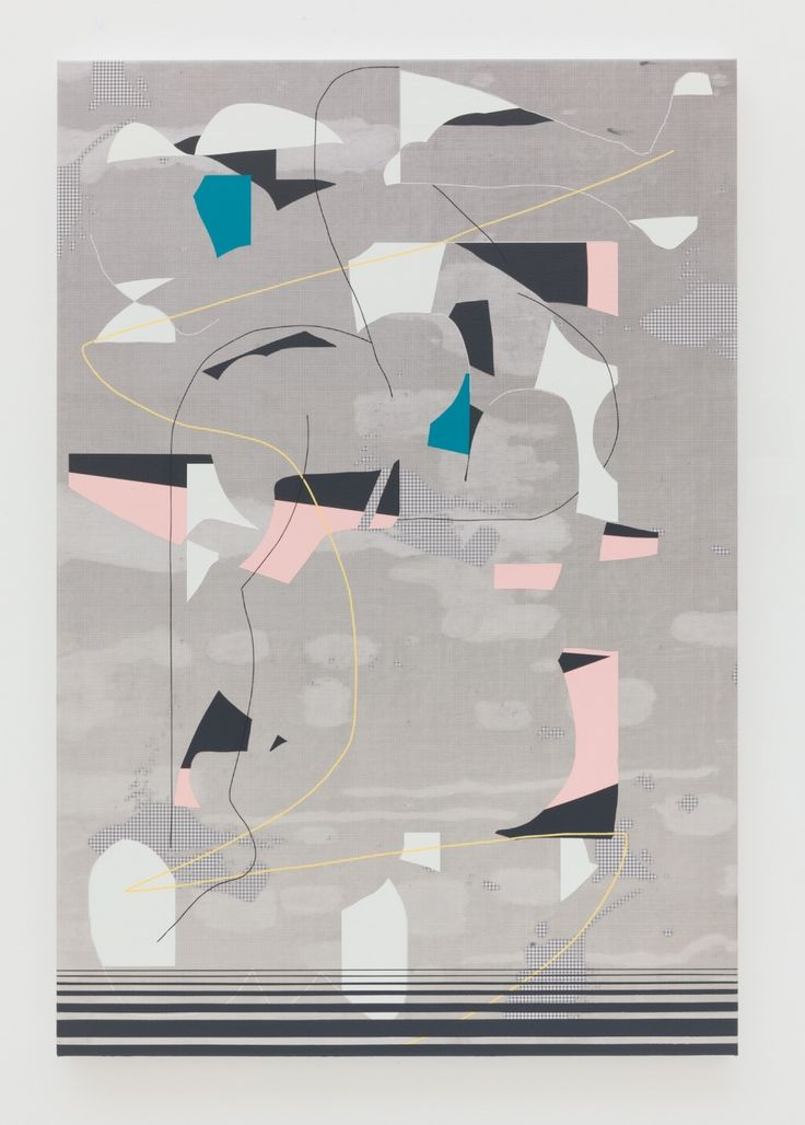Luke Rudolf - Somersault, 2014 / acrylic & UV ink on canvas / 110 x 75 cm