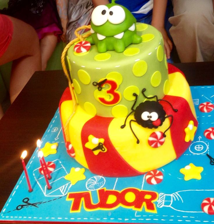Om Nom Cut the Rope Cake