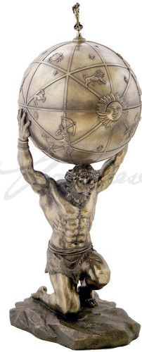 Atlas Carrying the Earth Box Large Sculpture