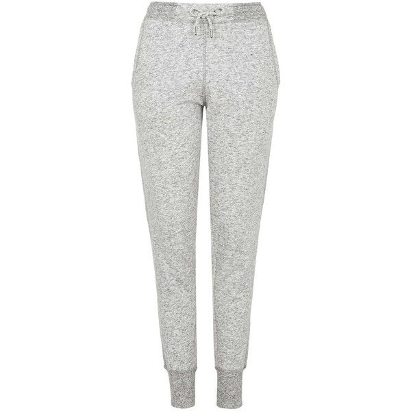 TOPSHOP PETITE Slim Fit Marl Joggers ($48) ❤ liked on Polyvore featuring activewear, activewear pants, sweats, grey marl, petite, petite sportswear, topshop, petite activewear pants and petite activewear