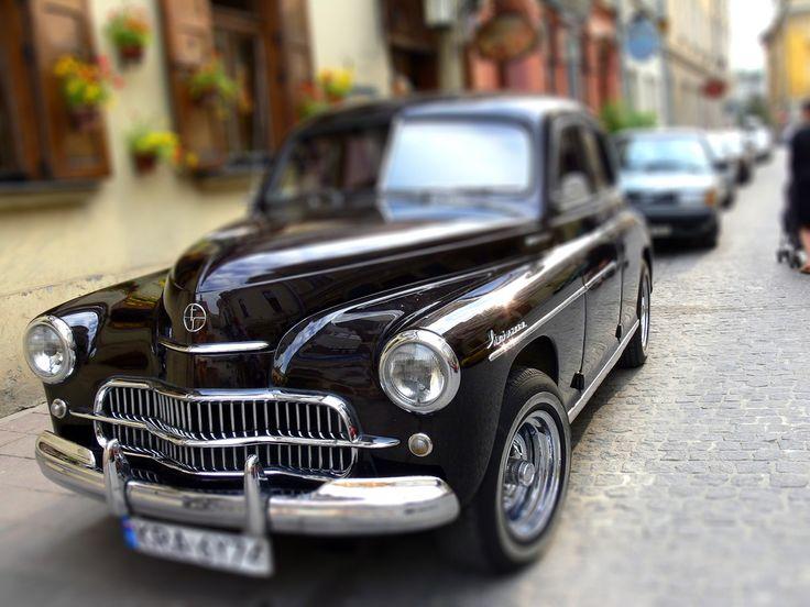 """an old Polish car """"Warszawa"""" (""""Warsaw"""")"""
