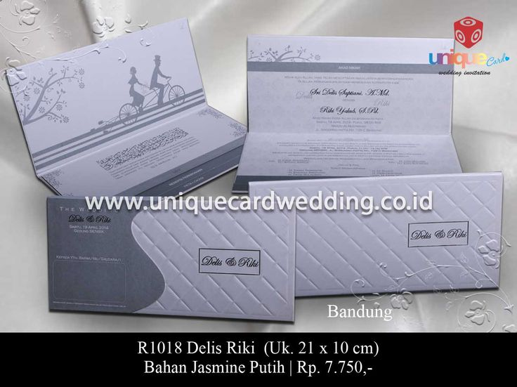 Undangan Pernikahan Delis Riki - The Unique Card Wedding Invitation