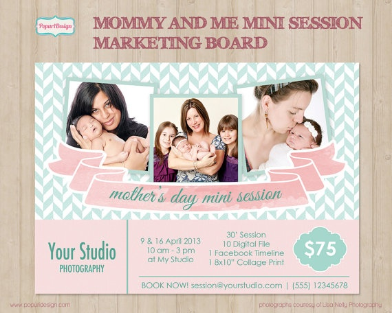 Mother's Day Mommy and Me Mini Session Marketing Board by PopuriDesign