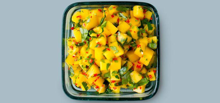 Mangosalat med chili   Oppskrift på Lises blogg
