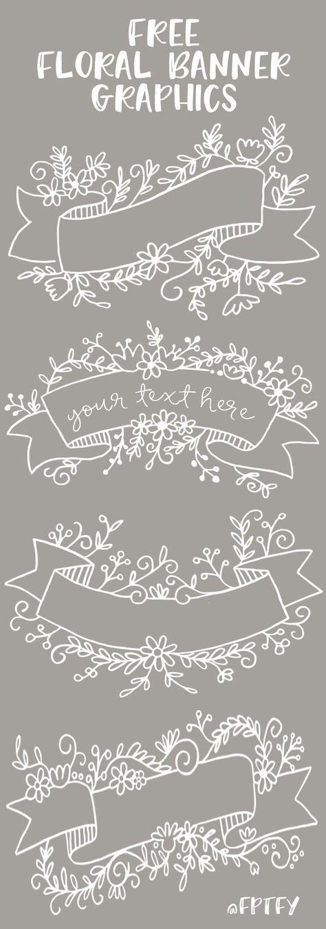 Kostenlose florale Bannergrafik – Set mit 4 CU – ok! – Kostenlose schöne Dinge für Sie #banner #floral #grafik #pretty