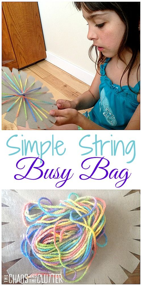 A busy bag that is easy to create and offers open ended play possibilities.