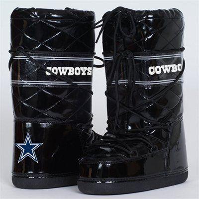 Cuce Shoes Dallas Cowboys Ladies Admirer Boots - Black