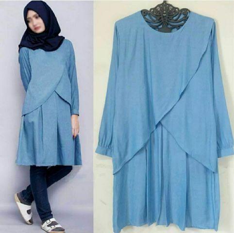 Atasan Baju atasan baju muslim busana muslim blouse hijab jilbab gamis tunik busana wanita Lava Tunik.jpg (482×480)