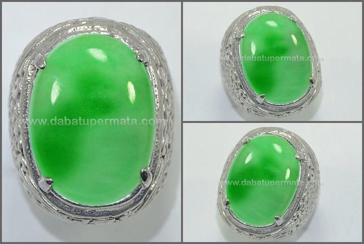 Beautiful Vivid Green Apple & White Snow GIOK - JD 045