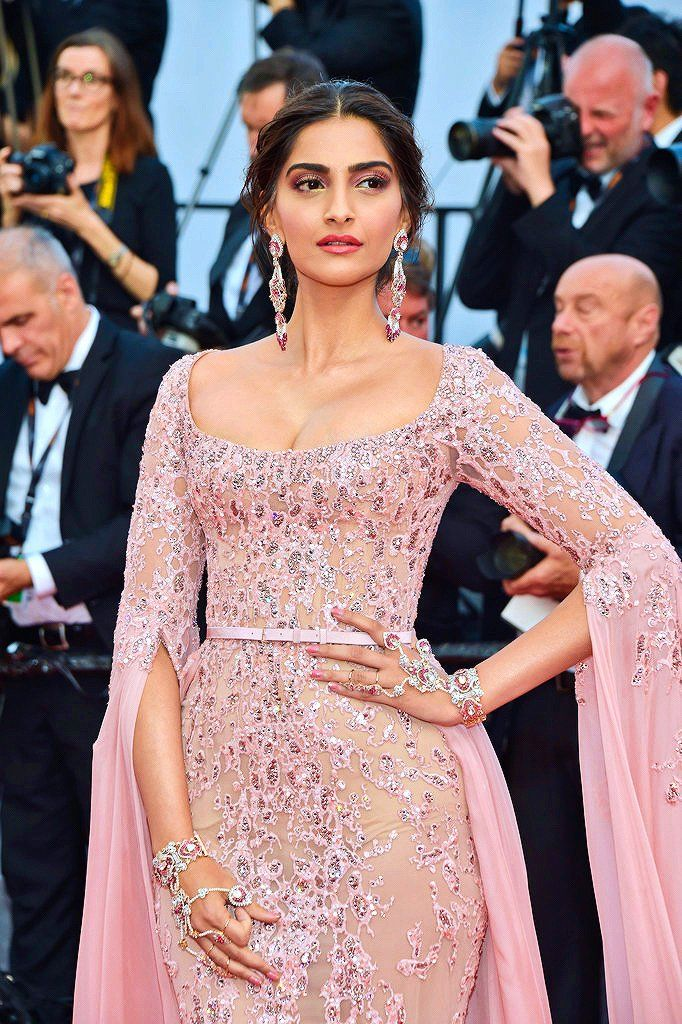 Beauty goddess Sonam Kapoor at Cannes 2017.