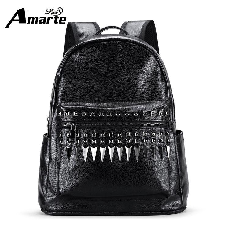 Amarte MEN Backpacks 2017 Luxury Brand High Quality Soild Leather Backpacks School Backpacks for Colleger Students Rucksacks #Affiliate
