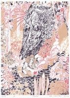 "Silk screen print by Satu Laaninen 2016, ""Muisto"" (""A Memory"")"