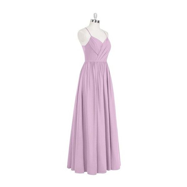 Azazie Cora Bridesmaid Dress Azazie ($129) ❤ liked on Polyvore featuring dresses, pink party dresses, pink bridal dresses, bridal party dresses, chiffon bridal dresses and going out dresses