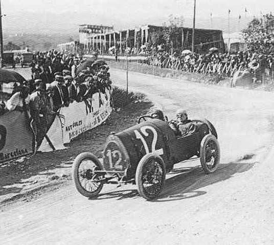 Alberto  DeVizcaya , Bugatti Brescia GP Penya Rhin 1921 Vilafranca del Penedes