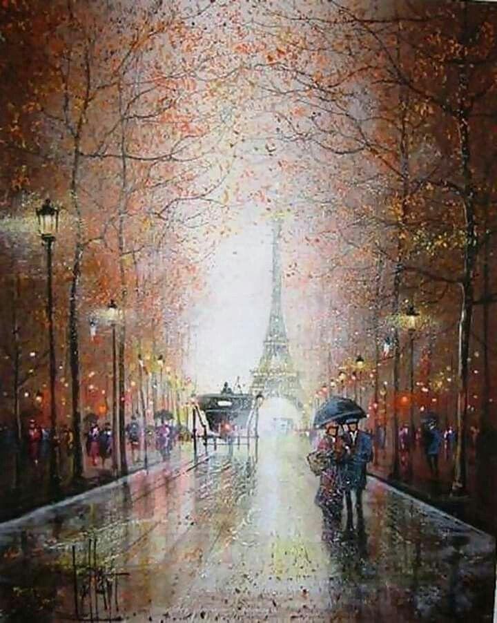 Картинки дождливый париж