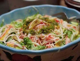 Salada de arroz e kani
