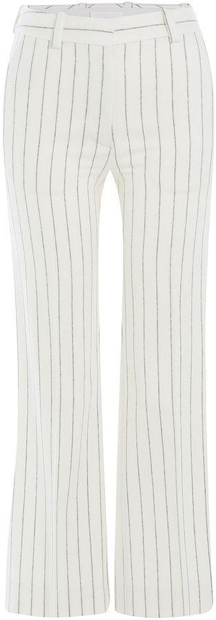 Maison Margiela Cropped Pinstriped Pants