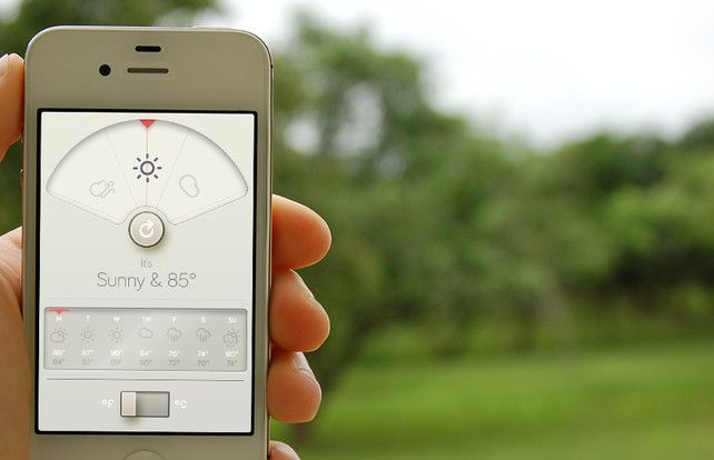 A Weather App Based Upon Dieter Rams's 10 Principles Of Design | Co.Design: business + innovation + design