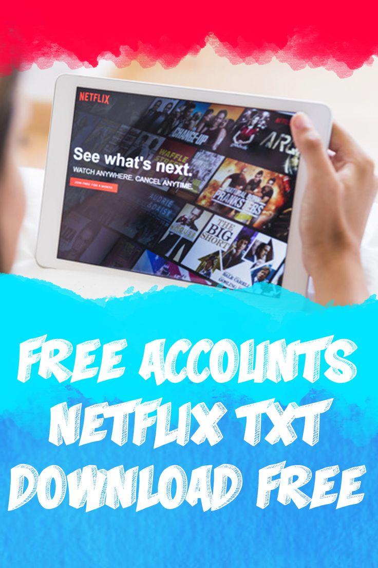 Free accounts netflix txt downlad netflix account