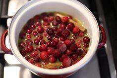 Zelfgemaakte cranberrysaus