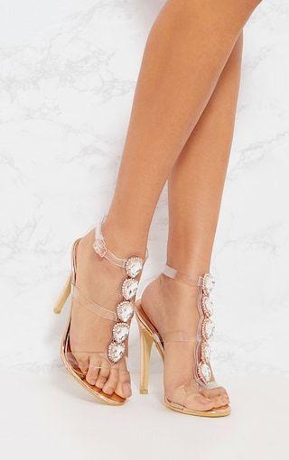 d4a7a55084d5e7 Gold Knee Ankle Jewel Heeled Sandal
