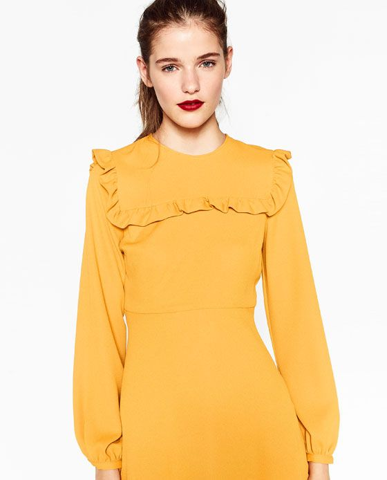 Cute, cute, cute!!  And, as a heads up, yellow is supposed to be really huge in 2017 :)  ZARA - SALE - MINI DRESS WITH FRILLS