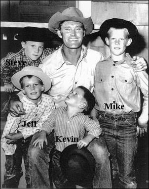 Chuck Connors Wife Four Sons | All four of Chuck's boys were in this episode. Can you pick any of ...