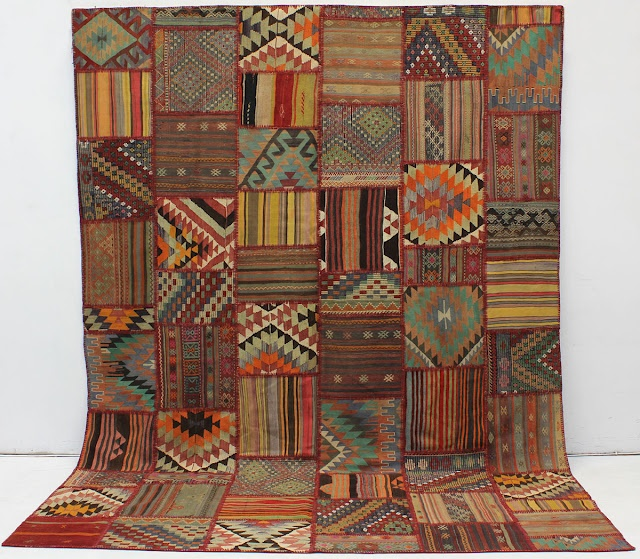 Tapestry Rug Patchwork Multi Colored Rugs With Intricate