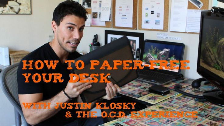 One Minute Tip - How to Paper-Free Your Desk. Today's One Minute Tip comes from Justin Klosky and the O.C.D. Experience.  Drawing from his l...