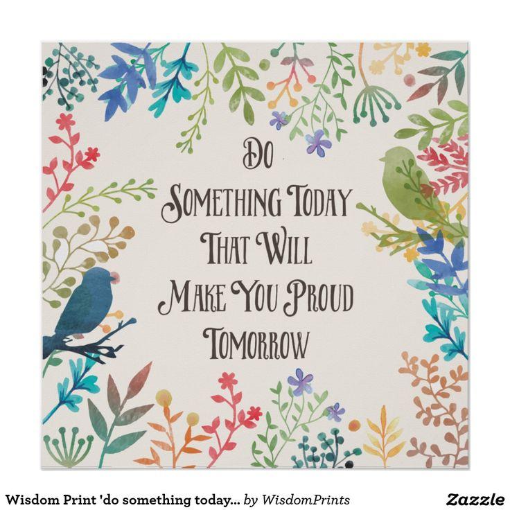 Wisdom Print 'do something today' birds,watercolor