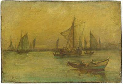 Βασίλειος Χατζής (1870-1915), Ψαροκάικα. Ιδιωτική Συλλογή.