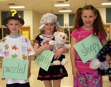 vocabulary parade costumes | First Grade Vocabulary Parade