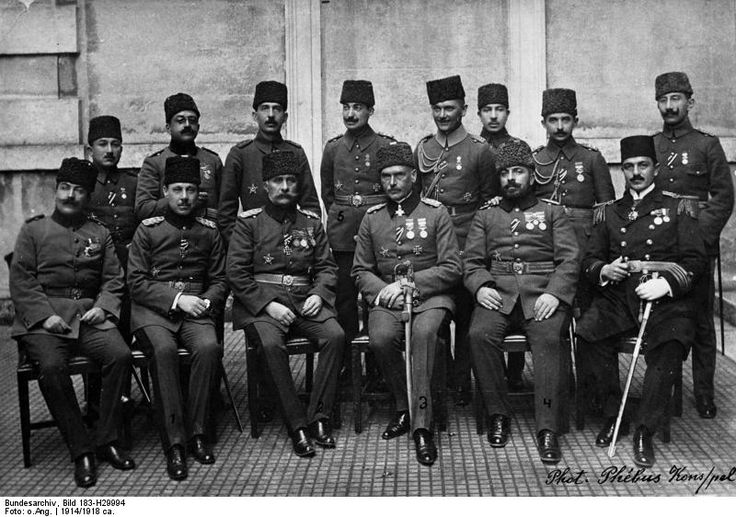 The Turkish general staff of the Sinai and Palestine Campaign, 1914.