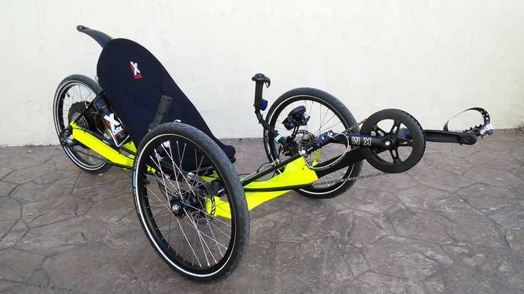KMX Thundrebolt in neon yellow.  Great trike, amazing capabilities. The E-Bike has five speeds with the ability to give you an assist.  No excuses, now get out and get active.
