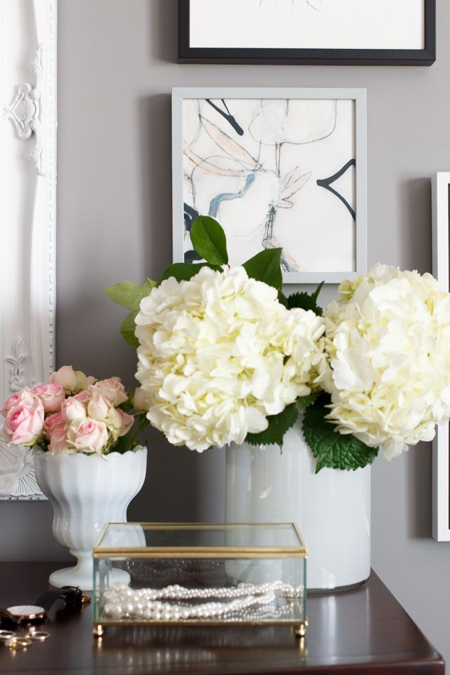 Master Bedroom Dresser Styling Hydrangeas And Roses