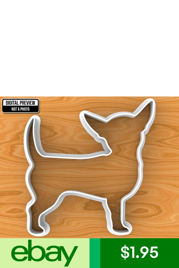 Smooth Coat Chihuahua Dog Cookie Cutter Selectable sizes