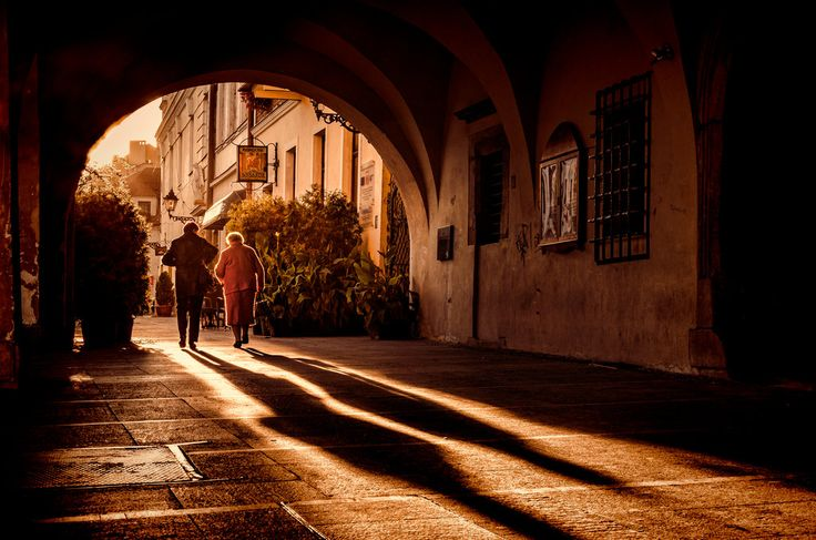 sunset in the old town - Tarnow - Poland