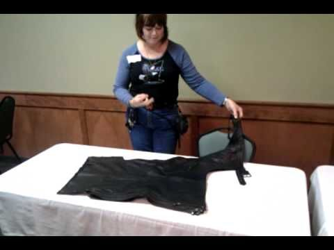 how to fold motorcycle chaps - YouTube