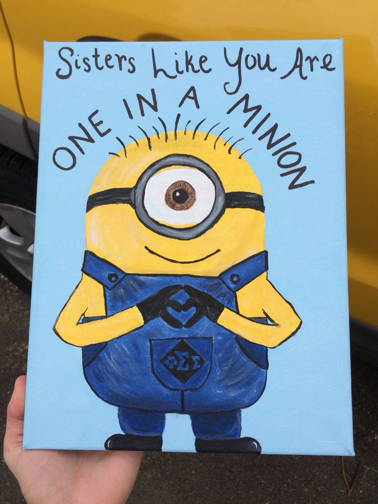 One in a Minion canvas #phisig