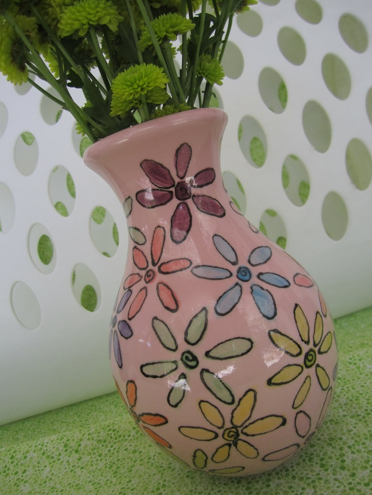 121 best painted pottery ideas images on pinterest for How to paint ceramic mugs at home