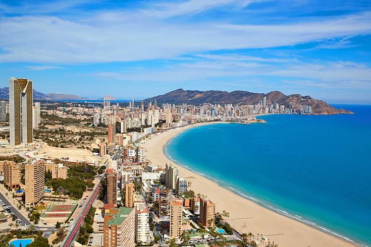 One of the two massive beaches in #Benidorm, Costa Blanca, Spain | Spanish Costas: which is right for your holiday in #Spain? | Weather2Travel.com #summer #holiday #travel