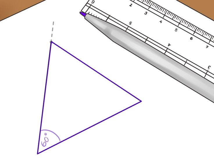 An equilateral triangle has three sides of equal length, connected by three angles of equal width. It can be challenging to draw a perfectly equilateral triangle by hand. However, you can use a circular object to mark out the angles. Make...