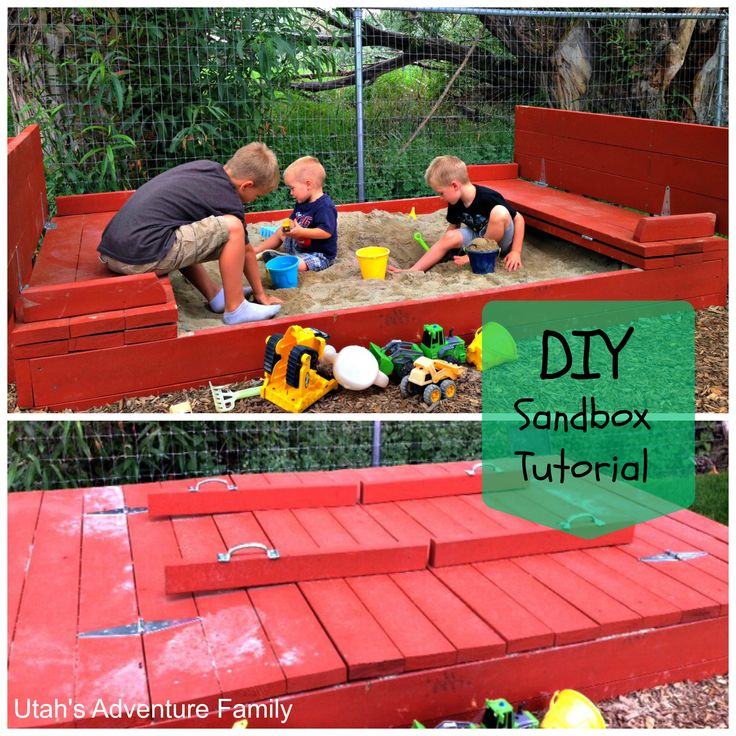 This sandbox is awesome with benches that turn into the cover!  Step-by-step tutorial on how to build it.  From Utah's Adventure Family