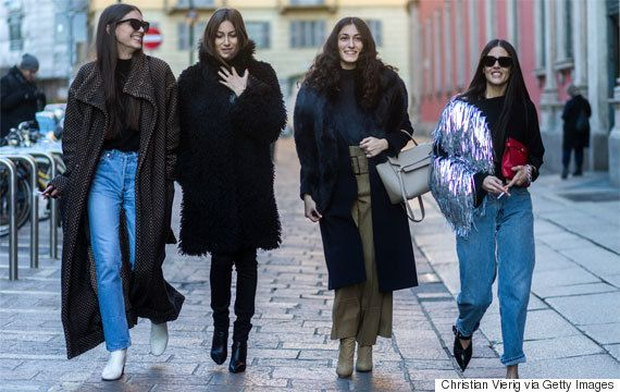 """""""Move Over Mum Jeans, Wedgie Jeans Are The New Denim"""" """"As far as the rest of your styling goes, think minimal. Pair with a casual top tucked in (like a Breton stripe or a plain white t-shirt), a silk button-up shirt with a casual blazer or, to go full 90s a spaghetti strap tank top,"""" (Naughton)"""