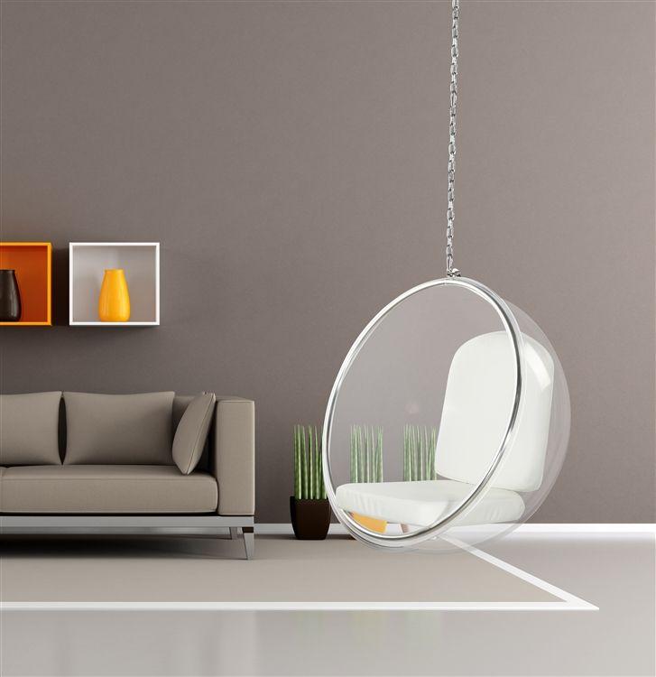 Eero Aarnio Style Bubble Hanging Chair White