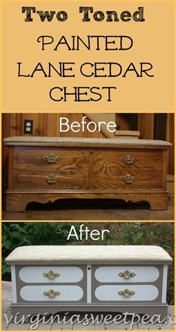 Two Toned Painted Lane Cedar Chest by virginiasweetpea.com