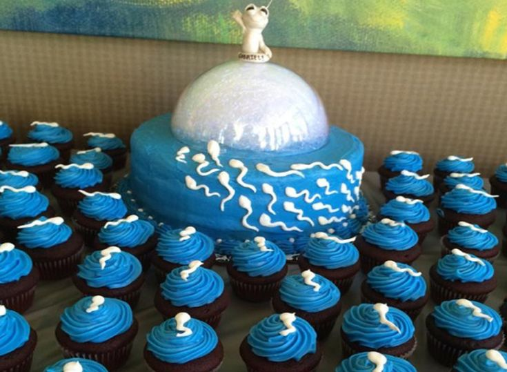 Funny Baby Shower Cupcakes And Cake | LuvThat