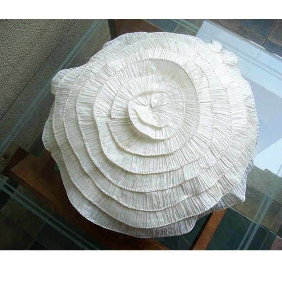 Vintage Ruffles  Throw Pillow Covers  26 Inches by TheHomeCentric, $44.00