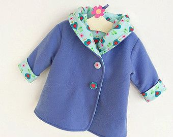 HEARTS HOODIE Jacket sewing pattern Pdf, Easy Hooded Coat, Toddler Baby Girl Boy newborn 3 6 9 12 18 m 1 2 3 4 5 yrs Instant Download